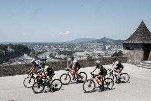 Radfahrer fast im Ziel